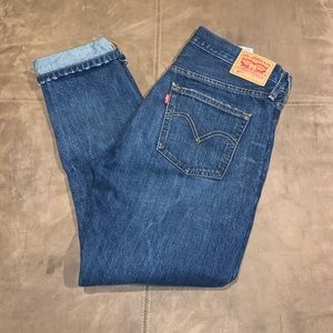 Levi's Distressed 501 T Cropped Jeans Size 26
